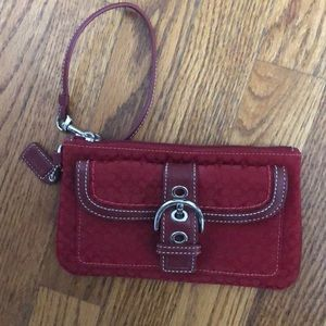 Red Coach Wristlet